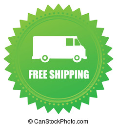 Free shipping - illustration of icons free shipping, vector