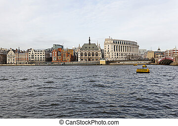Blackfriars pier London - Blackfriars Pier at Thames River...