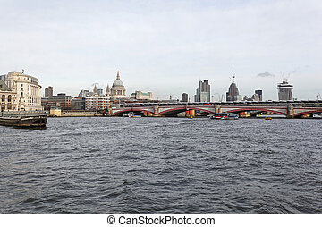 Blackfriars Bridge and River Thames in London