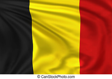 Belgium flag - High quality illustration of the flag of...