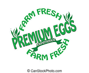 Premium eggs - Stamp with text premium eggs inside, vector...