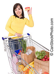 woman with shopping cart