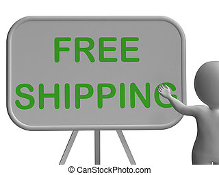 Free Shipping Whiteboard Shows Item Shipped At No Cost -...