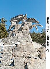 horse rider statue