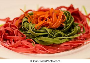 Multicolored Spaghetti