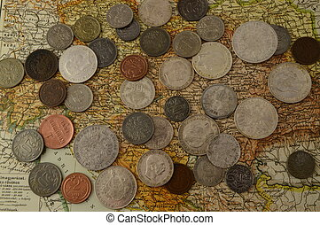 pesos,  austro, Húngaro