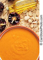 romesco sauce typical of Catalonia, Spain - a bowl with...