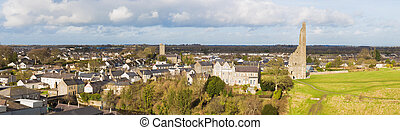 Panorama of the Town of Trim and the Yellow Steeple seen...