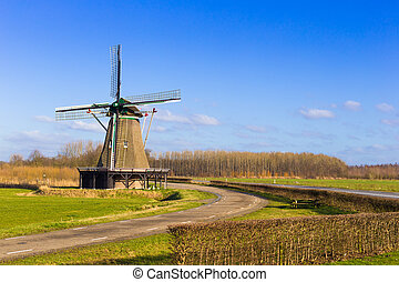 Smock mill the Windesheimer built in 1749 in The Netherlands