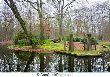 Wesselman grave in Helmond in the Netherlands on a winter...