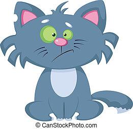 comic cat - illustration of a comic cat
