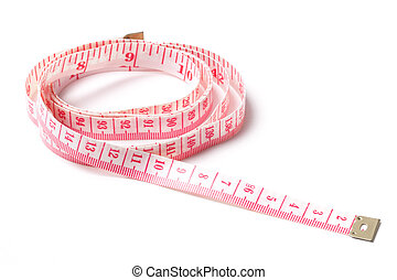 Measuring Tape - Picture of measuring tape isolated on...