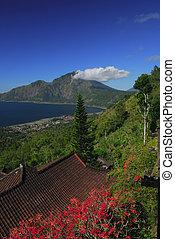 View at alpine lake Batur, mt Batur, Bali, Indonesia