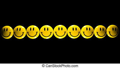 yellow smiley face - many bright yellow smiley face on a...