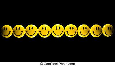 smiley, giallo, faccia