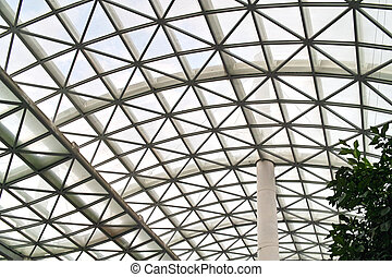 complex modern roof in the town of la spezia