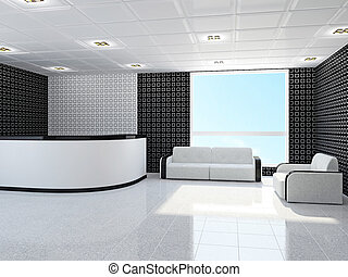 Office with furniture - Office with a sofa and armchair