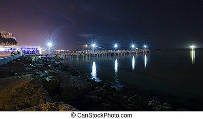 Limassol pier - The Limassol pier in Enaerios Area in...
