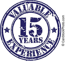 Valuable 15 years of experience rub