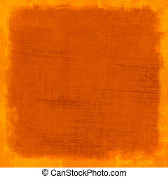 Orange scratched vintage background