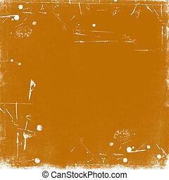 Orange scratched vintage background