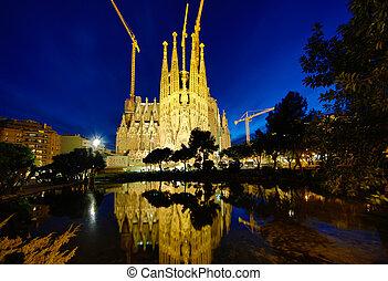 Sagrada Familia, Barcelona - BARCELONA - FEBRUARY 15, 2014:...