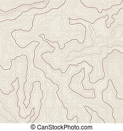 Topographic map background - Map background with topographic...