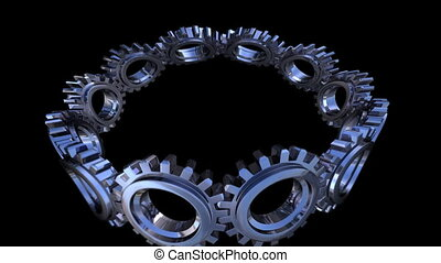 Gears twisting for use as background or else
