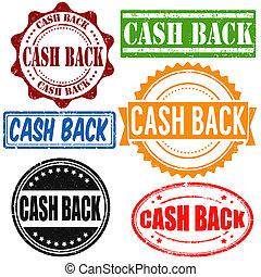 Cash back stamps - Cash back vintage grunge rubber stamps...