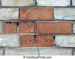 Red and white brick background #11