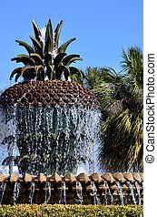Waterfront Park Pineapple Fountain - A Pineapple Fountain at...