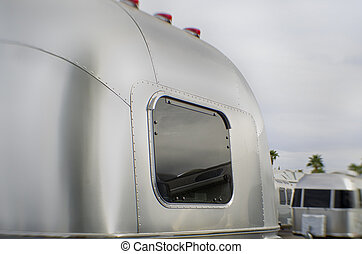 Travel camper van made with chrome steel metal
