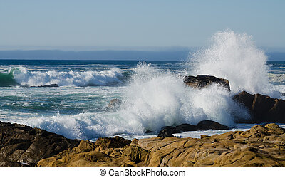Crashing Waves at Salt Point State Park California