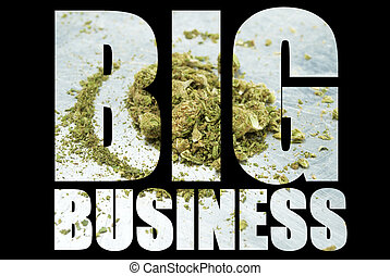 Marijuana, Big Business - Weed, Medical Marijuana Grunge...