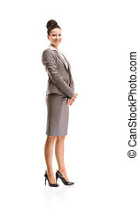 Business woman - Professional business woman in suit. Full...