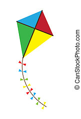 kite - vector colorful kite