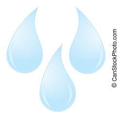 water drops - vector water drops