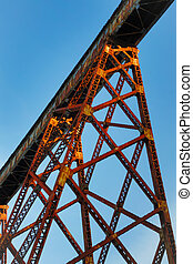 Towering Trestle - Indiana's Tulip Trestle, as seen from...
