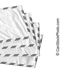 Airmail letter envelope over a white background