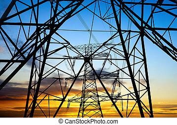 high voltage post