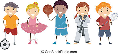 Kiddie Activities - Illustration Depicting Different...