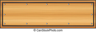 An empty wooden signboard - Illustration of an empty wooden...