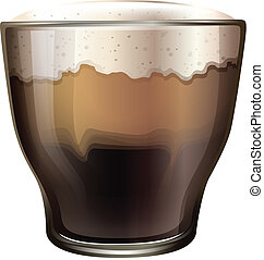 A glass of cold coffee - Illustration of a glass of cold...