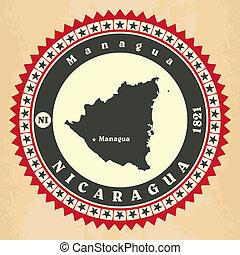Vintage label-sticker cards of Nicaragua.