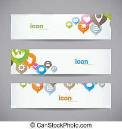 Creative abstract background web icon banner header vector