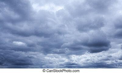 stormy sky - Natural background, a dark stormy sky
