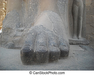 foot Egyptian statue