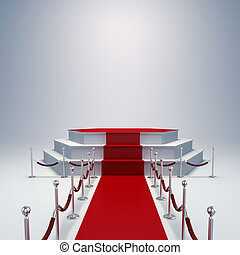 3d podium and red carpet
