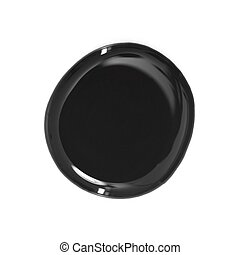 Paint - A circle of paint isolated on a white background