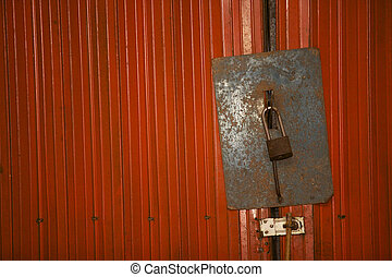 Key to lock the door.